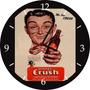 Relógio De Parede Em Vinil, Refrigerante Crush