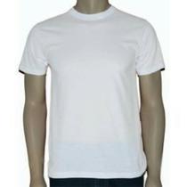 Kit Com 10 Camisetas Básicas Brancas Em Malha Fria