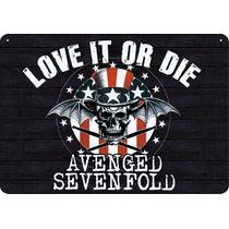 Placa Madeira Banda Avenged Sevenfold 28 Cm X 40 Cm - Retrô