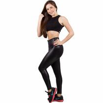 Calça Legging Fitness Em Tecido Cirrê E Brilhe Dia E Noite