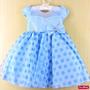 Vestido Infantil Alice No País Das Maravilhas Luxo Com Tiara