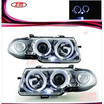 Farol Projector Angel Eyes Gm Astra 95 96 97 Cromado-o Par