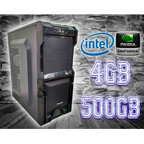 Cpu Gamer Intel/ 4gb/ 500gb/ Gt210/ Dvd/ Gab.