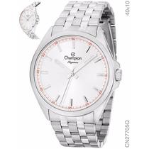 Relógio Champion Elegance Prata Analógico Unissex Cn27705q