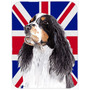 Welsh Springer Spaniel Inglês Com Union Jack Bandeira