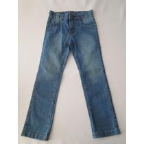 Calça Jeans Infantil Masculina Com Detalhe Bolso Moeda Tam 6