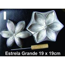 Frisador Modelagem De Flores Tecidos E Eva Estrela Grande 01