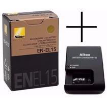 Bateria Nikon En-el15 Original + Carregador Mh-25 D600 D800