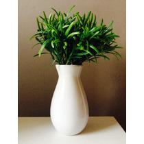 Par De Vasos Decorativos Cerâmica Com Planta Artifical