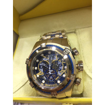Relogio Invicta Bolt Zeus Skeleton Dourado Azul Caixa Manual