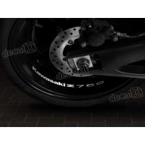 Adesivos Centro Roda Refletivo Moto Kawasaki Z750 Rd5