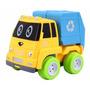Mini Caminhão De Lixo Com Fricção Dm Toys