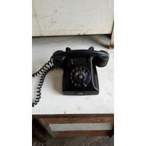 Telefone Antigo Preto Em Baquelite Dec 50 Decorativo