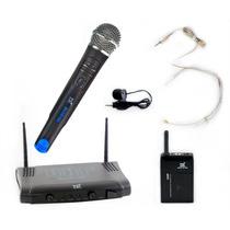 Microfone Sem Fio (kit Cabeça/lapela/instrumento) Tsi Ms-215