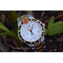 Bulova Aço E Ouro Chronograph 7 Pont - Um Charme De Relógio.