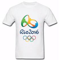 Camiseta Olimpíadas Rio De Janeiro 2016 Comemorativa Brasil