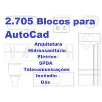 Blocos Autocad - Arquitetura, Hidraulica, Eletrica, Spda