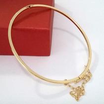 Pulseira Feminina Dourada Folheada Ouro 18k Com Garantia