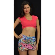 Top C/bojo + Shorts Saia R16972 Atacado Frete Barato