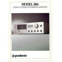 Quadro 20x30 - Amplf.gradiente Model 246 Com Moldura E Vidro