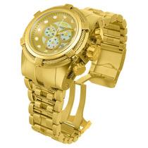 Relógio Invicta Bolt Zeus 12738 Gold Original Completo