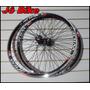 Rodas X-wide Montadas Aro 26 P/v-brake 36f Cubos/rol Jô Bike