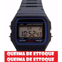 Relógio Cassio Unissex Retrô Vintage Prata,dourado,preto