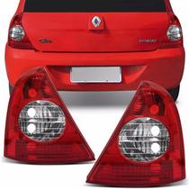 Lanterna Traseira Clio Hatch Bicolor 03 04 05 06 07 08 09 10