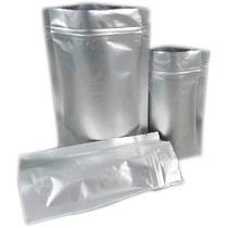 50 Saco / Saquinhos Metalizado Com Zip 19x12 Lembrancinhas