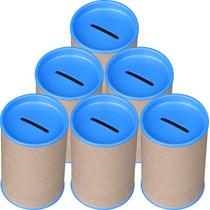 100 Cofrinho P/ Personaliza Tampa Azul Celeste Frete Grátis
