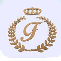 Kit Provençal Coroa Ramos Inicial Nome Brasão Tam M 3mm Mdf
