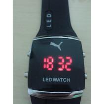 Relogio Pulseira De Silicone Led Watch - Puma P.entrega
