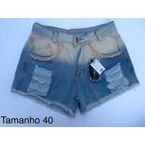 Short Jeans Cos Alto Cintura Alta