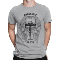 Camisa, Camiseta The Walking Dead Daryl Dixon Crossbow Arco