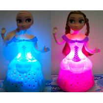 Kit Com 2 Bonecas Frozen Elsa & Ana. Cantam , Dançam Luz Led