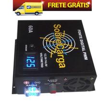 Fonte Automotiva Sobrecarga 60a Com Voltimetro 12,5v A 14,4v