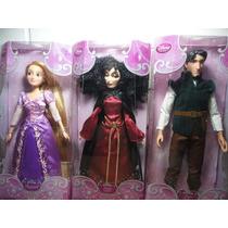 Rapunzel Flynn Rider Gothel Bonecos Disney Originais