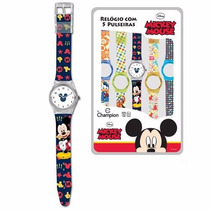 Relógio Infantil Digital Troca Pulseiras Champion Disney
