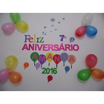 Painel Festa De Aniversário Letras Personalizadas Eva + Enfe