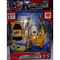 Boneco Robô Mutante Amarelo Luz E Som 12cm Dm Toys
