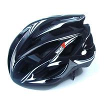 Capacete Bike Wk7 Tamanho M Preto Branco Corridas