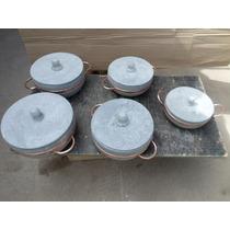 Kit De 5 Panelas Pedra Sabão Direto Da Fabrica.