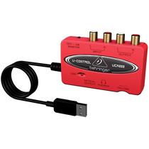 Interface De Áudio Usb Mixer U-control Uca222 Behringer Nfe