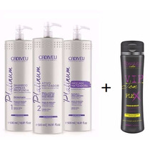Progressiva Cadiveu Platinum Blonde 3x500ml + Vip Tom Plex