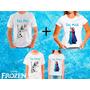Kit 4 Camisetas Frozen Olaf Anna Elsa Tal Mãe Tal Filha Pai