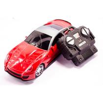 Carro Carrinho De Controle Remoto Lamborguini Vermelha 1:18