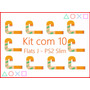 Kit Com 10 Cabos Flat Flet Flex J Play Station 2 90001 Ps2
