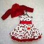 Vestido De Festa Moranguinho Com Blusinha - Bambina Fashion