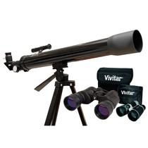 Telescópio Com Ampliação + Par De Binóculos