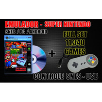 Controle Usb Snes + 11340 Games Pc / Android ( Xgamelive )